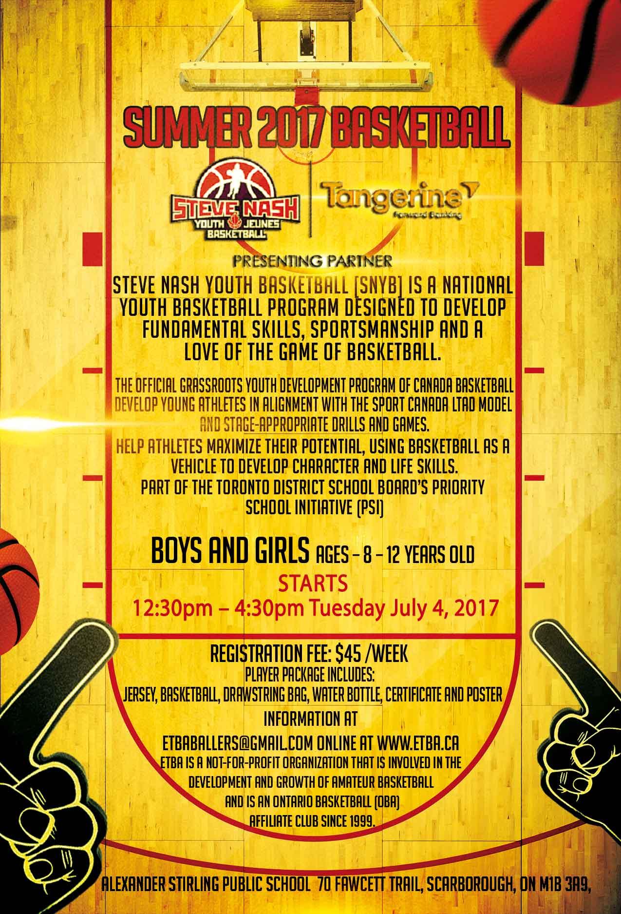 ETBA Summer Camp 2017
