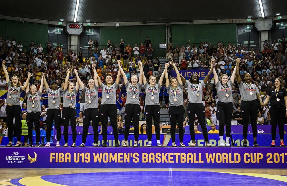 Canadian U19 Junior Women Win Bronze at FIBA World Cup 2017