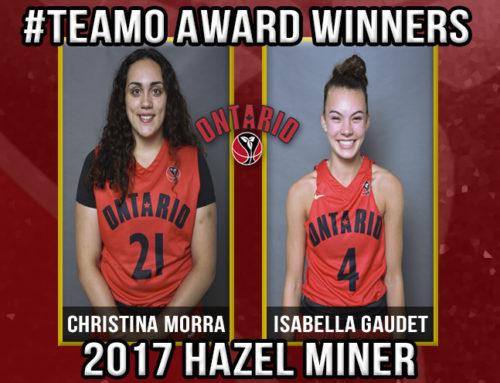 2017 Team Ontario Hazel Miner Award Winners, Christina Morra & Isabella Gaudet