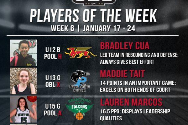 OBL Player of the Week - Week 6 - 3