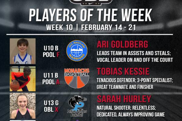 OBL Player of the Week - Week 10