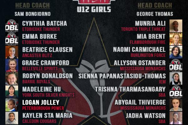 OBL All Star 2019 - U12 Girls
