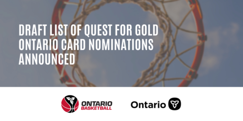Draft List of Quest for Gold Ontario Card Nominations Announced!