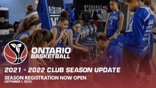 2021-22 Club Season Update - September 1, 2021